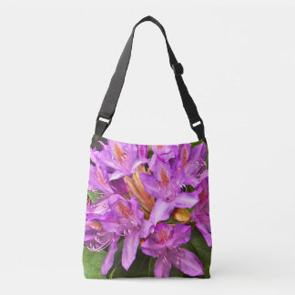 """""""PURPLE RHODODENDRON WITH SPLASHES OF ORANGE"""" BAG"""