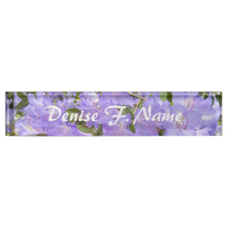 Purple Rhododendrons Floral Nameplate