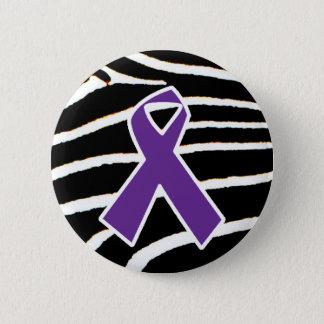 Purple Ribbon 6 Cm Round Badge