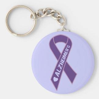 Purple Ribbon Alzheimer's Keychain