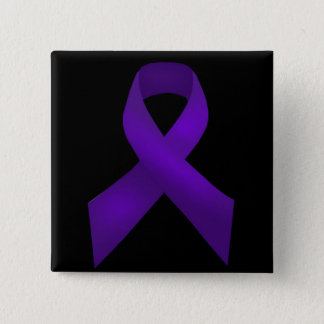 Purple Ribbon Awareness Lupus 15 Cm Square Badge