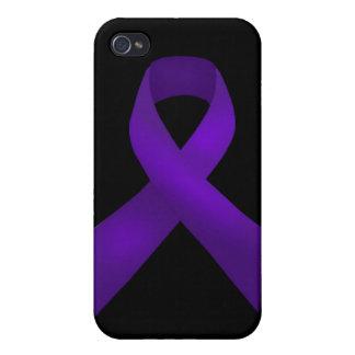 Purple Ribbon Awareness Lupus iPhone 4/4S Cases