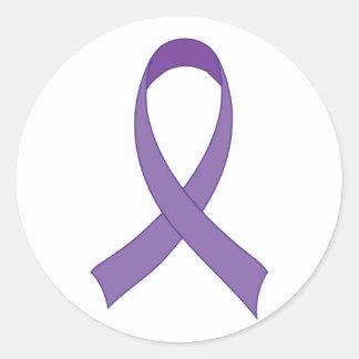 Purple Ribbon Awareness Tshirt Gift Classic Round Sticker