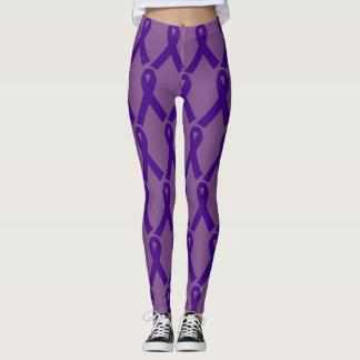 Purple Ribbon custom leggings