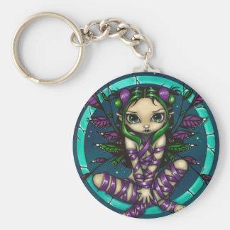 """Purple Ribbon Fairy"" Keychain"