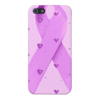 Purple Ribbon of love_ iPhone 5/5S Covers