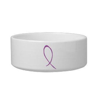 Purple Ribbon Pet Bowl