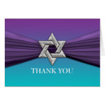 Purple Ribbon Silver Star of David