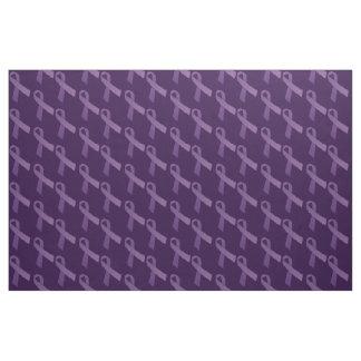 Purple Ribbons Tiled  Pattern Fabric
