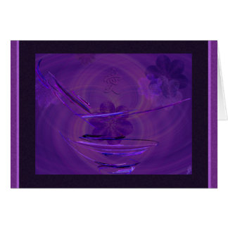 Purple Rice Bowl Abstract Art Stationery Note Card