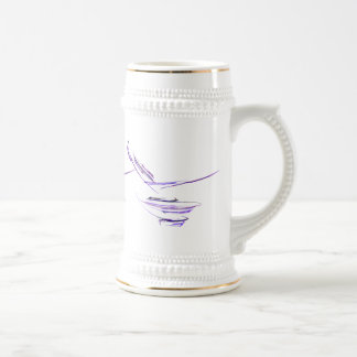 Purple Rice Bowl Abstract Art Beer Steins