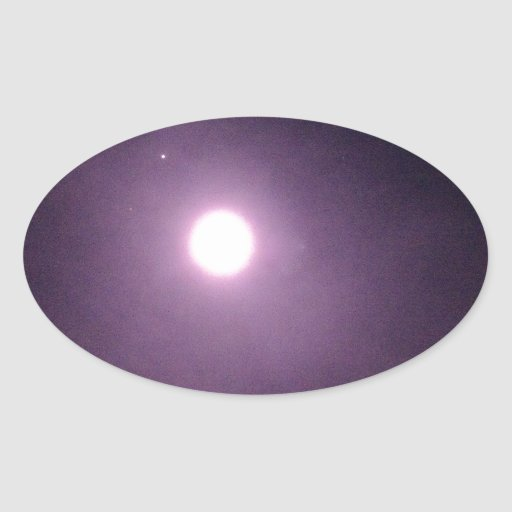 Purple rings around full moon stickers