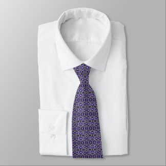 Purple rose abstract tie