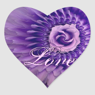 PURPLE Rose and Feather Rose Petals Stickers