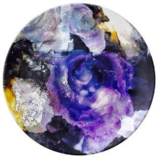 Purple Rose Art Plate