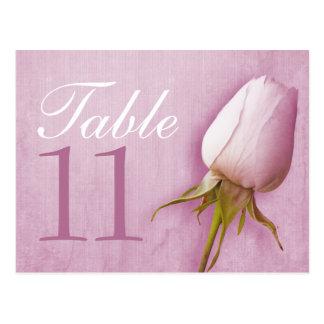 Purple rose bud wedding table number 10-39 card postcard