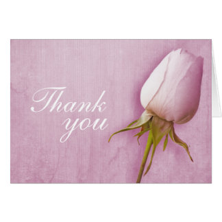 Purple rose bud wedding thank you card landscape note card