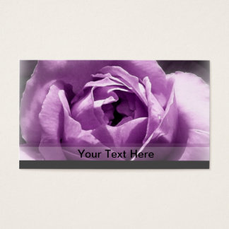 Purple rose business card