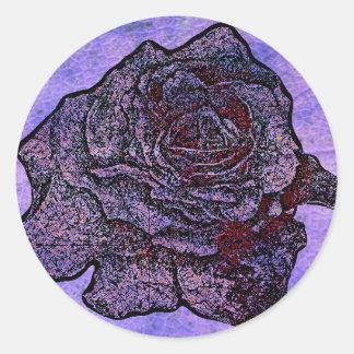 Purple Rose Classic Round Sticker