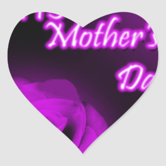 Purple Rose Happy Mother's Day design Sticker