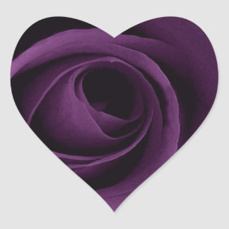 Purple Rose Heart Sticker