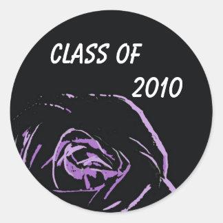 purple rose on black stickers         ...