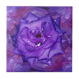 Purple Rose Passion Ceramic Tile