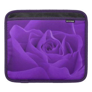 Purple Rose Petals iPad Sleeve