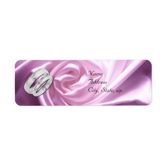 Purple Rose Return Address Wedding Labels