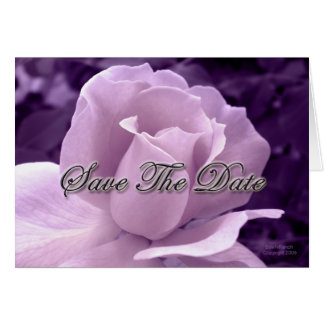 Purple Rose Save the Date Greeting Card