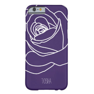Purple Rose, Simple & Modern Barely There iPhone 6 Case