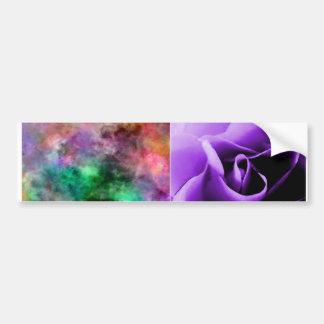 purple rose skin and pastel tie-dye ecig skin bumper sticker