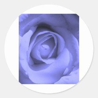 Purple Rose Round Stickers