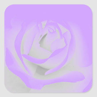 purple rose square sticker
