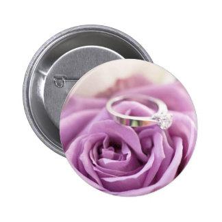 Purple Rose Summer Wedding Save The Date Pin