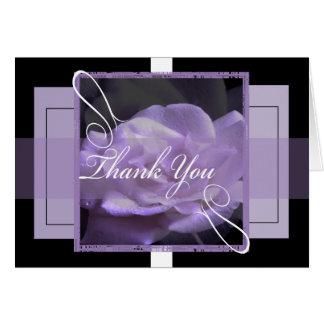 Purple Rose Thank you Greeting Card