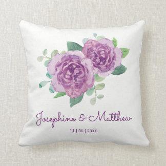 Purple Rose Wedding Cushion