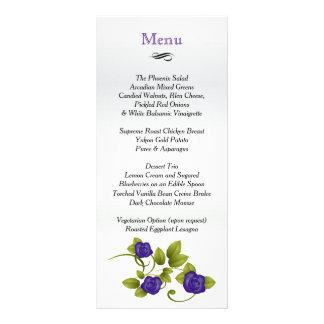 Purple Rose Wedding - Menu Rack Card Design
