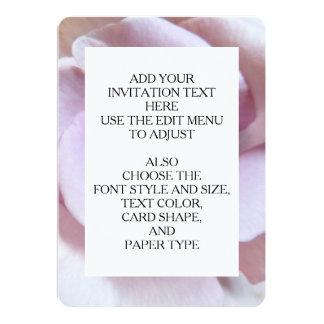Purple Rose Wedding Photo 13 Cm X 18 Cm Invitation Card
