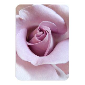 Purple Rose Wedding Photo 9 Cm X 13 Cm Invitation Card