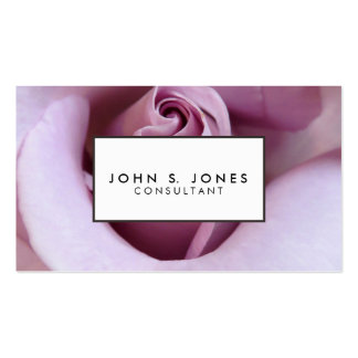 Purple Rose Wedding Photo Business Card Templates