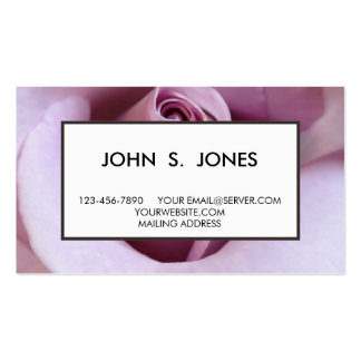 Purple Rose Wedding Photo Business Cards