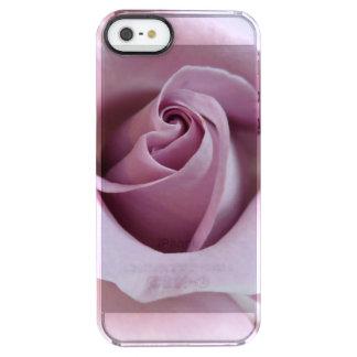 Purple Rose Wedding Photo Clear iPhone SE/5/5s Case