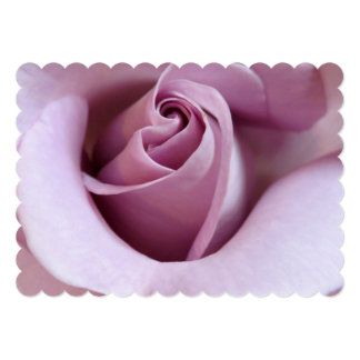 Purple Rose Wedding Photo 5x7 Paper Invitation Card