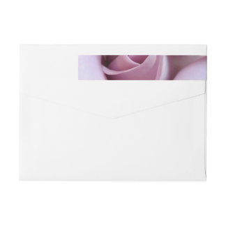 Purple Rose Wedding Photo Wraparound Return Address Label