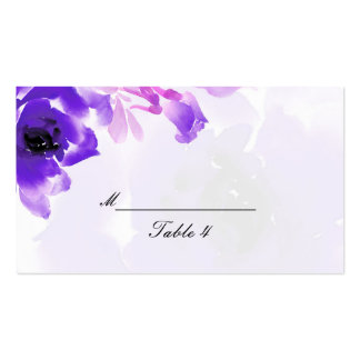 Purple Rose Wedding Place Cards Business Card
