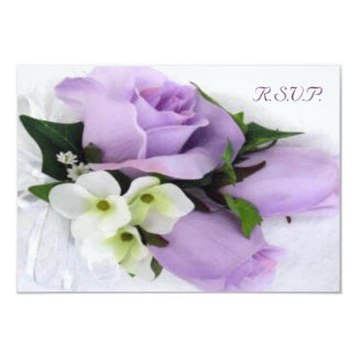 Purple Rose Wedding RSVP Personalized Invitations