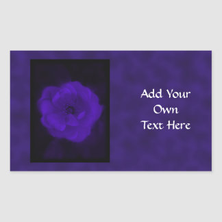 Purple Rose. With Black and Dark Purple. Rectangular Sticker
