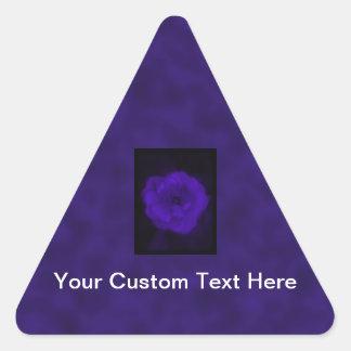 Purple Rose. With Black and Dark Purple. Triangle Sticker