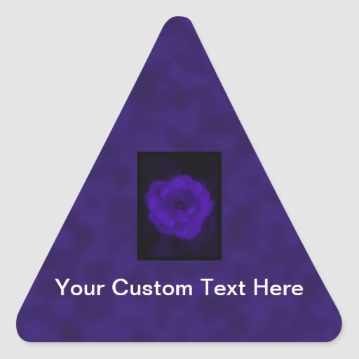 Purple Rose. With Black and Dark Purple. Triangle Stickers